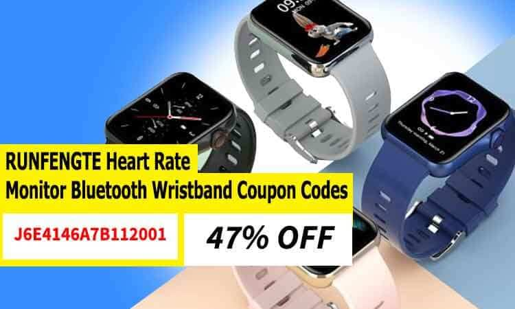 RUNFENGTE Heart Monitor Bluetooth Wristband Coupon Codes