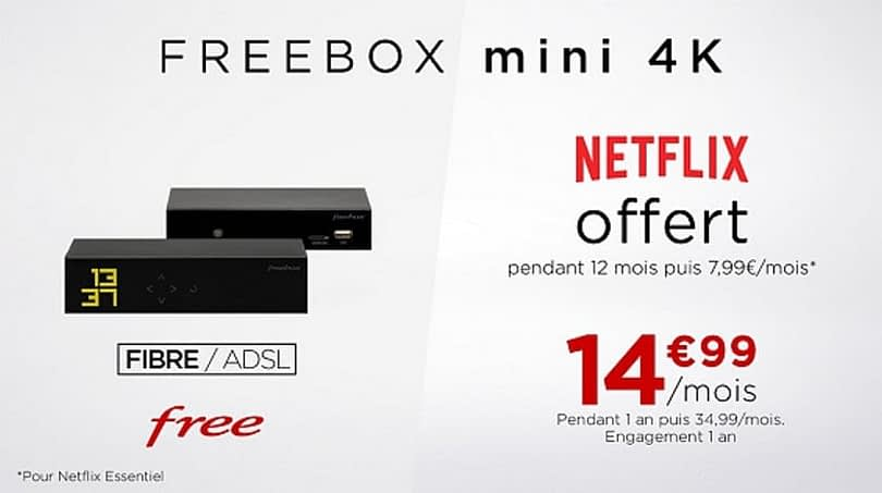 Private sale Freebox Mini 4K with Netflix offered