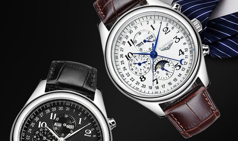 Valentine Day Deals 2020 - GUANQIN GQ20022 Male Auto Mechanical Watch
