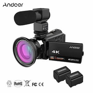 Digital Video Camera DV Camcorder with Lens and Microphone 2020