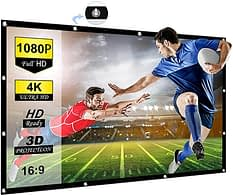 50% Off Collapsible White Portable Projector Screen Sale
